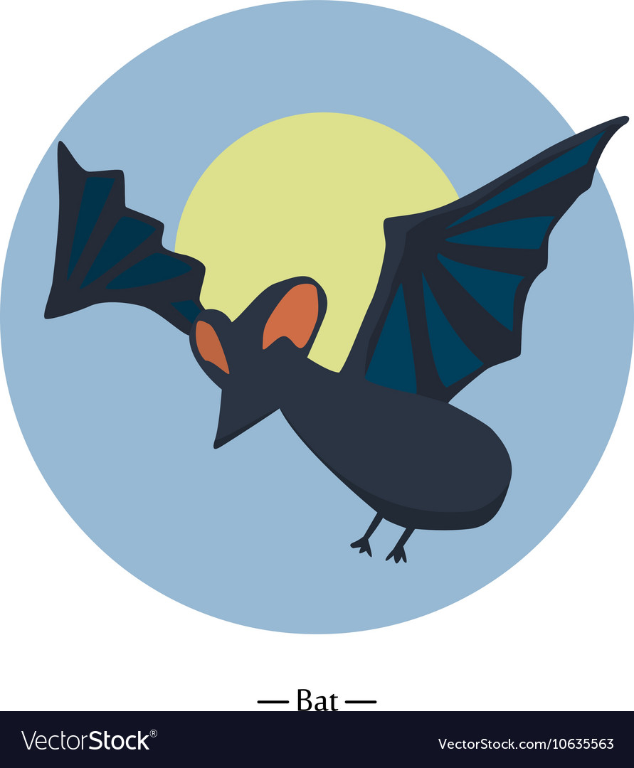 Symbol Of The Bat Colorfull Flat Royalty Free Vector Image