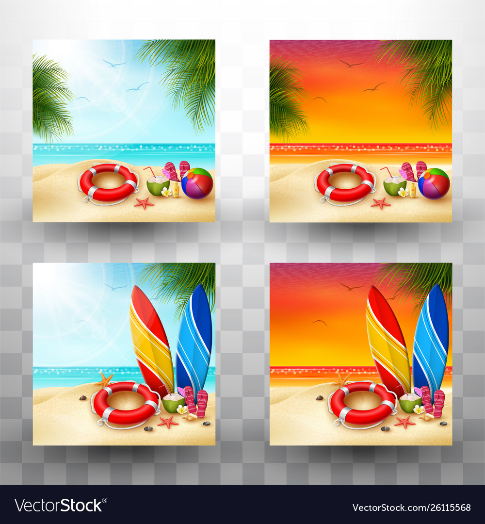 Beautiful summer beach background collections