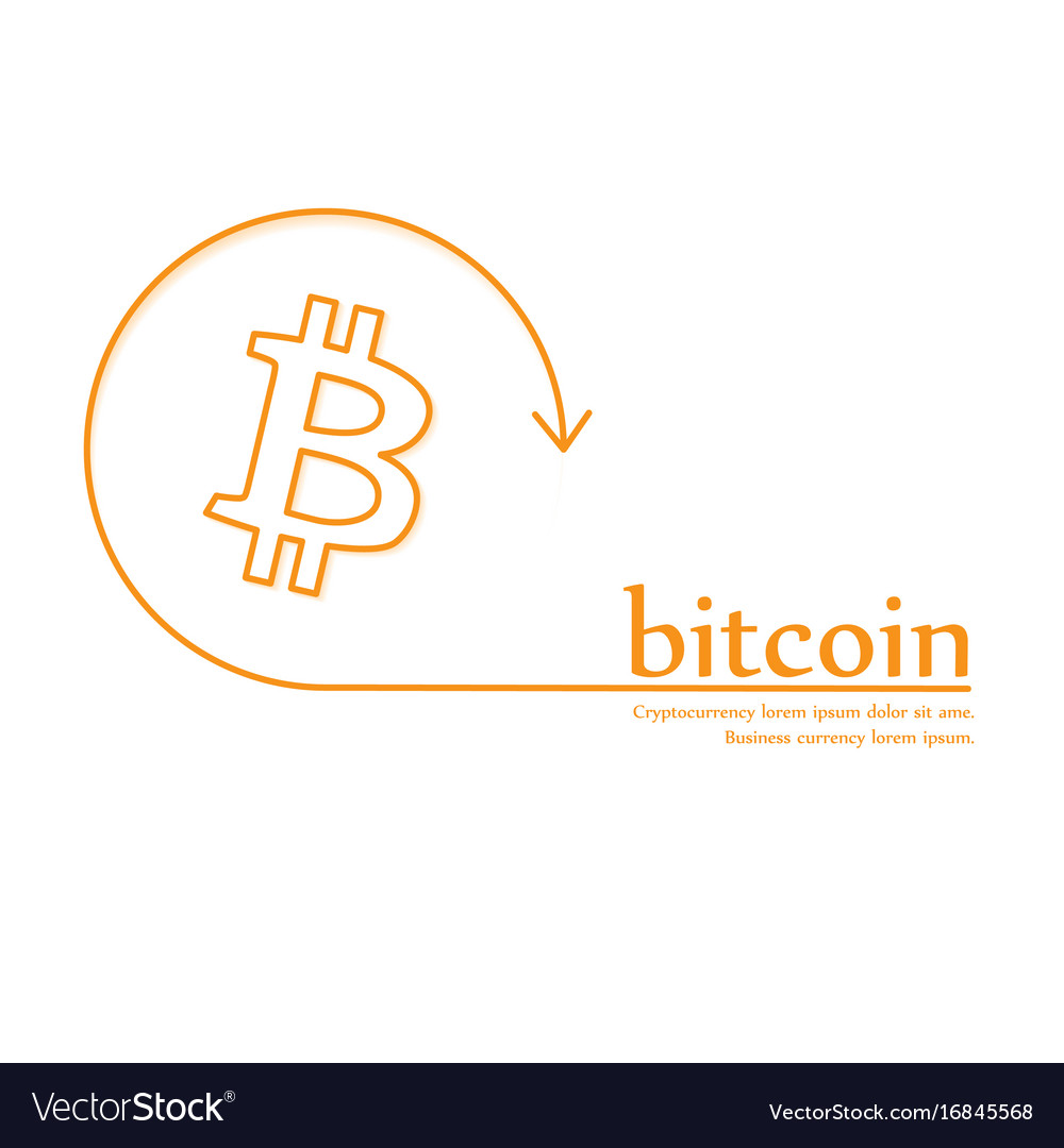 Bitcoin money icon banner crypto-currency coin vector image