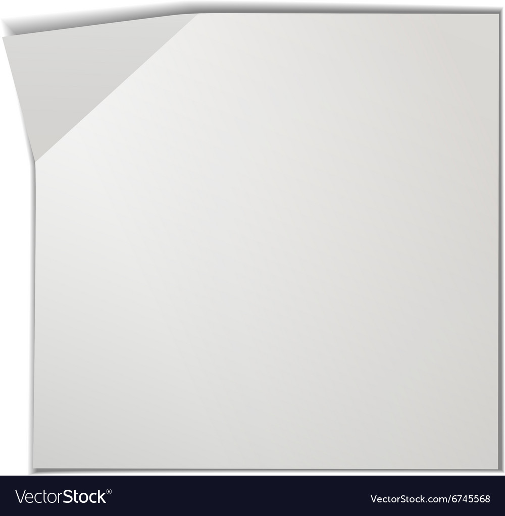 blank piece of paper royalty free vector image