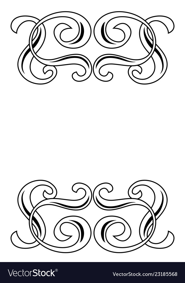 Decorative swirl border ornament