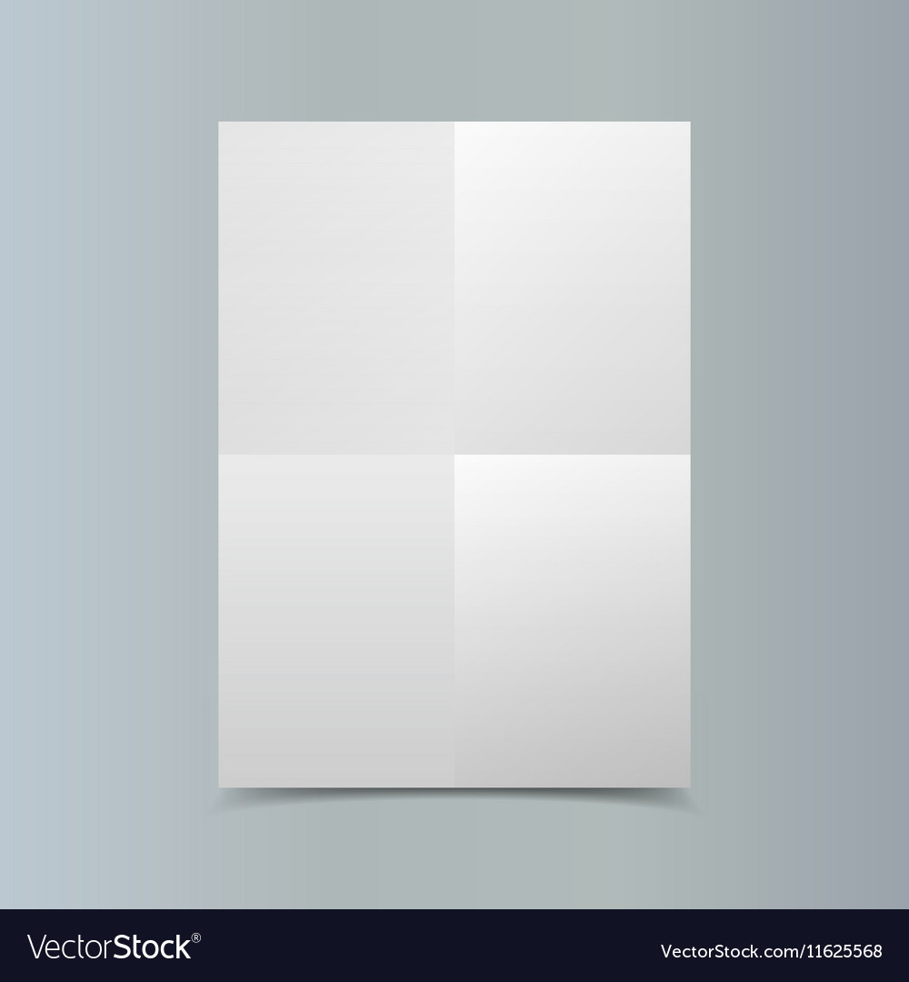 Empty vertical white paper poster mockup on vector image