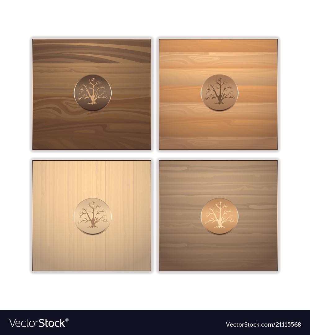 Wooden texture a set of different breeds