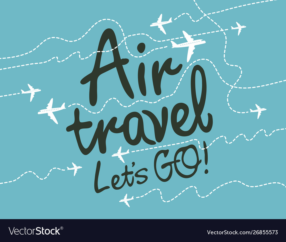 Banner for air travel with aircrafts in sky