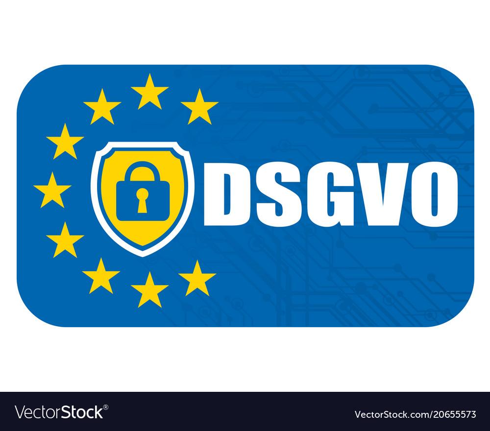 General data protection regulation german mutation vector image