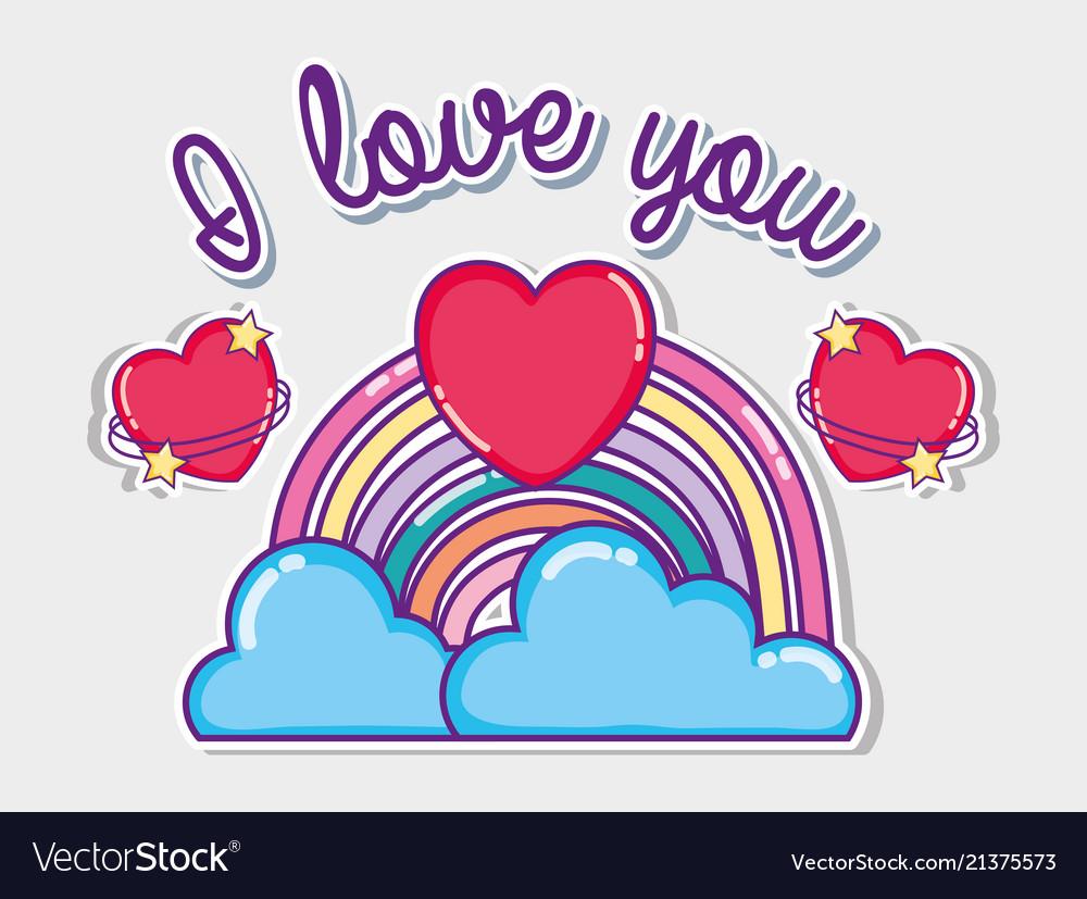 I Love You Card Royalty Free Vector Image Vectorstock