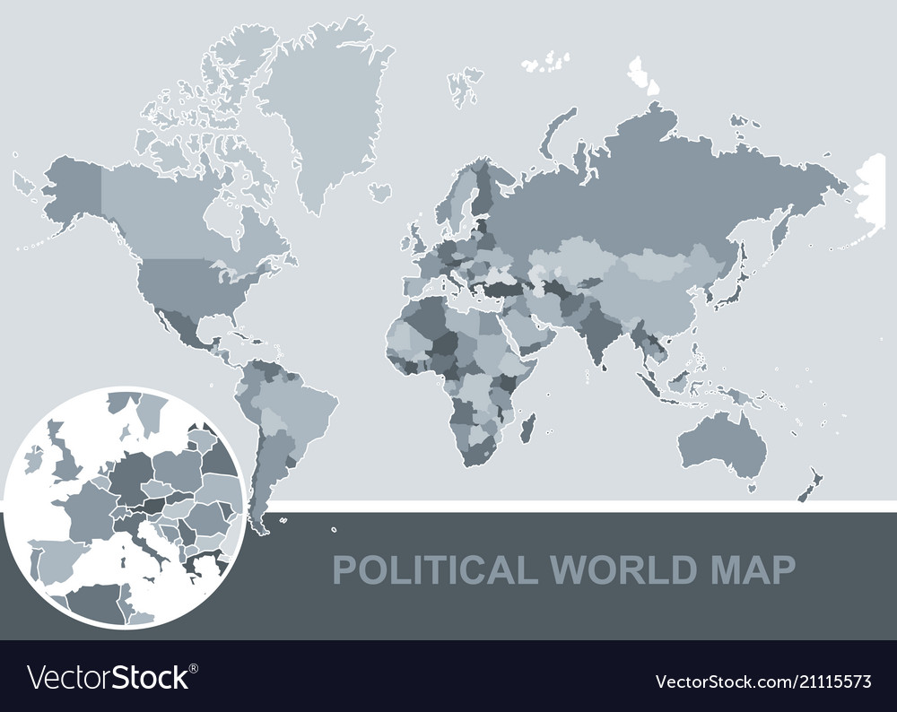 Political map of the world editable