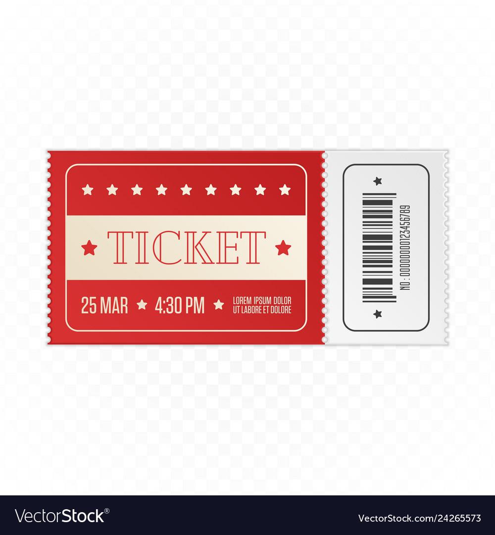 Red cinema ticket
