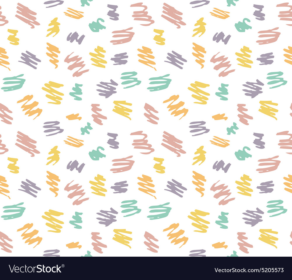 Seamless pattern with scribbles Colorful hand