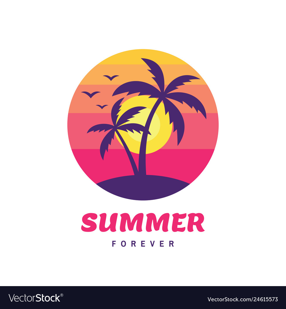 Summer forever - concept business badge