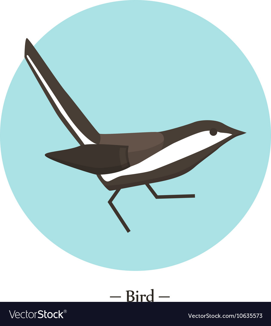 The symbol of the bird in style flat