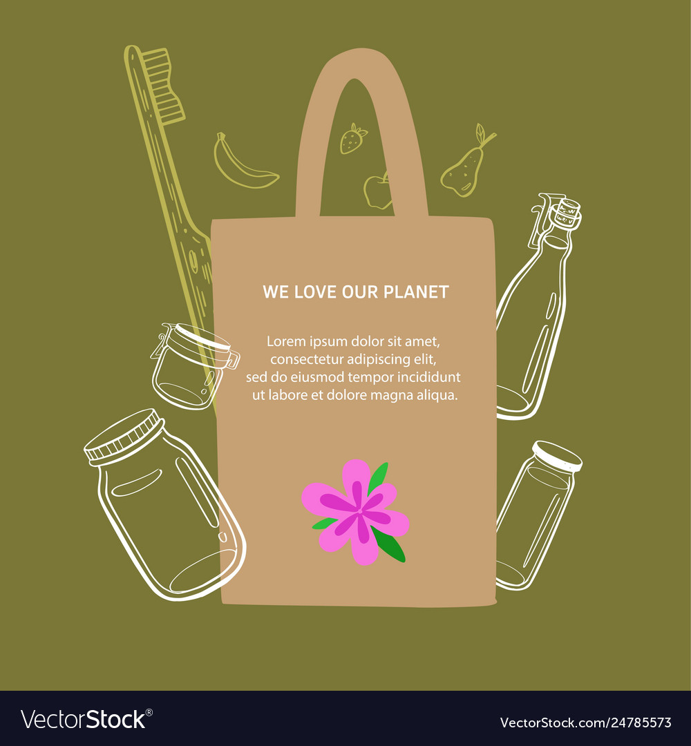Zero waste and eco friendly lifestyle hand