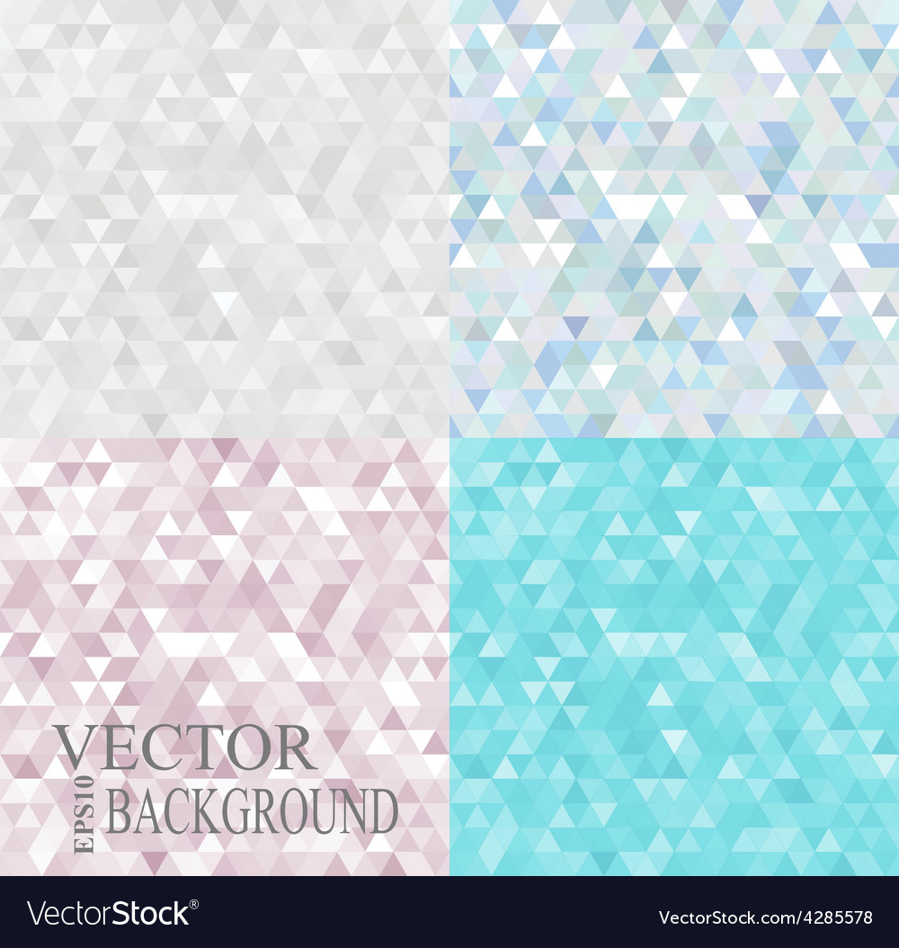Abstract geometric backgrounds set consisting of