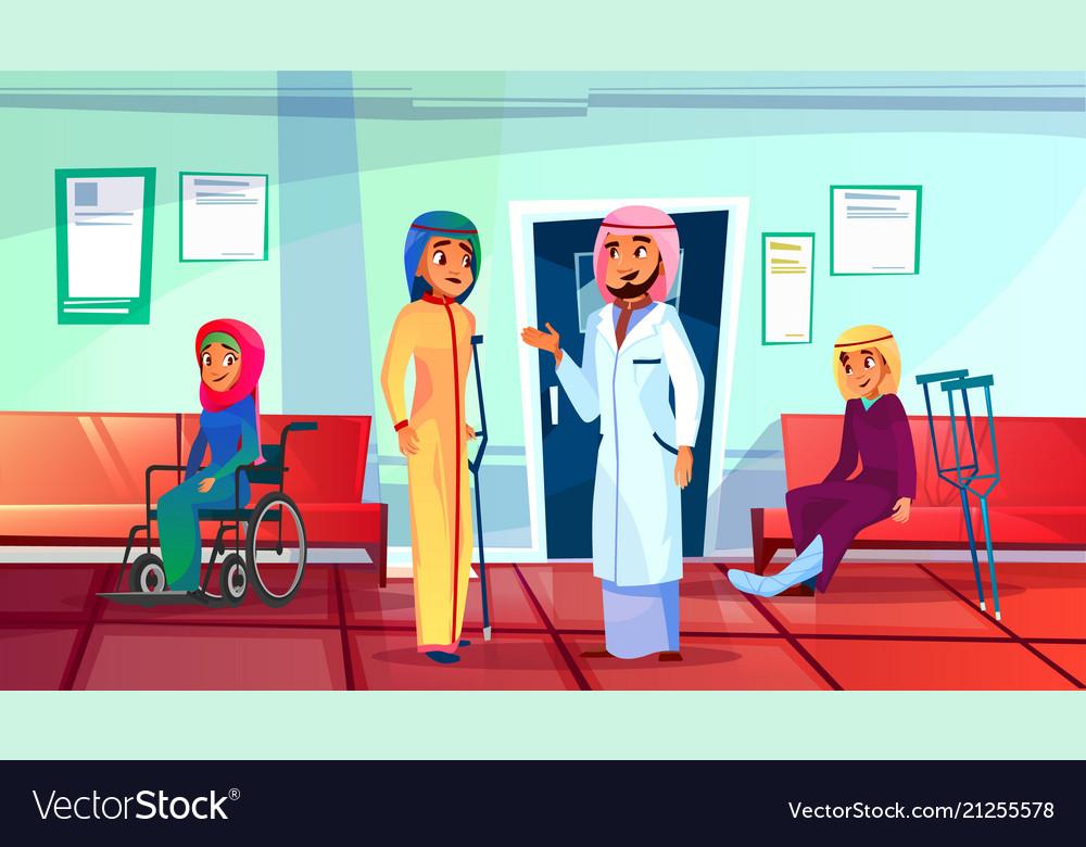 Muslim patient visit doctor