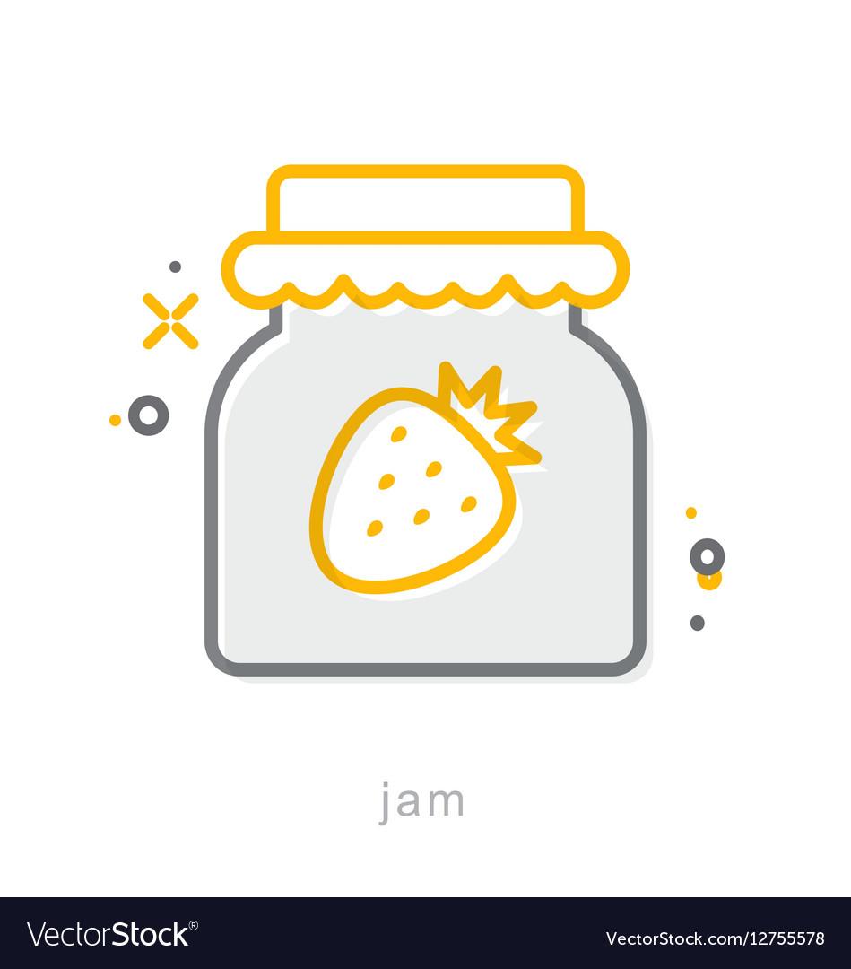 Thin line icons Jam