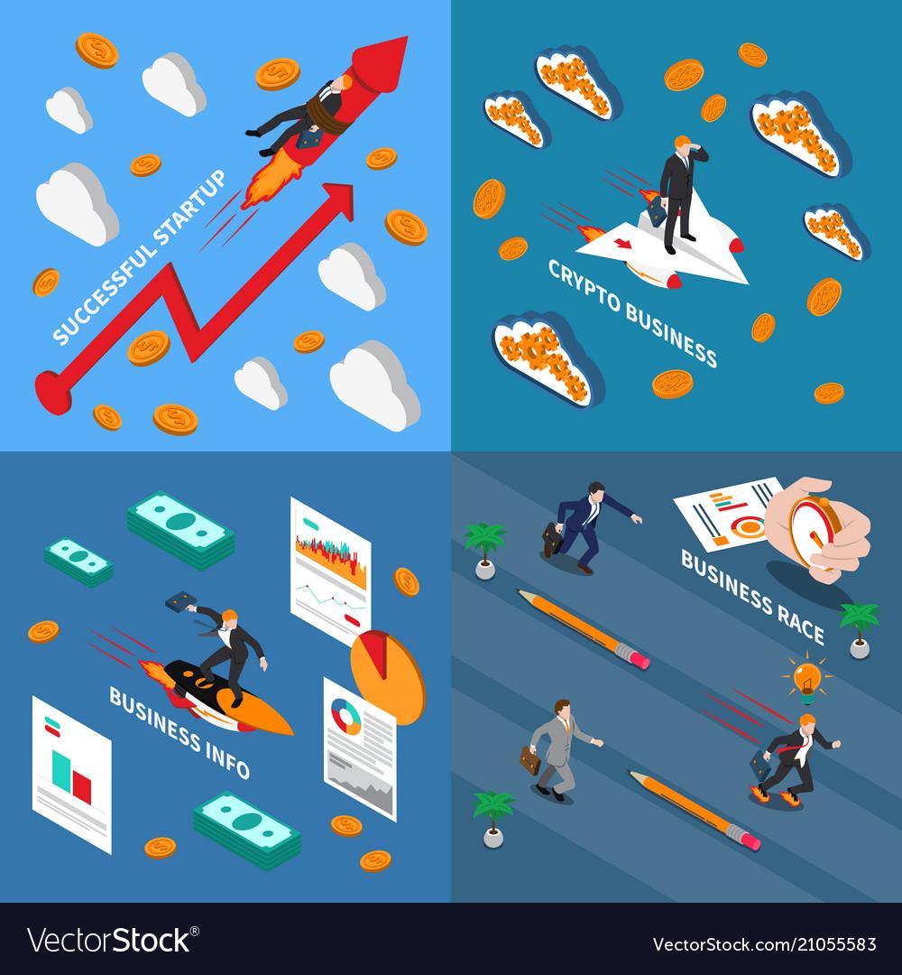Accelerate business 2x2 design concept