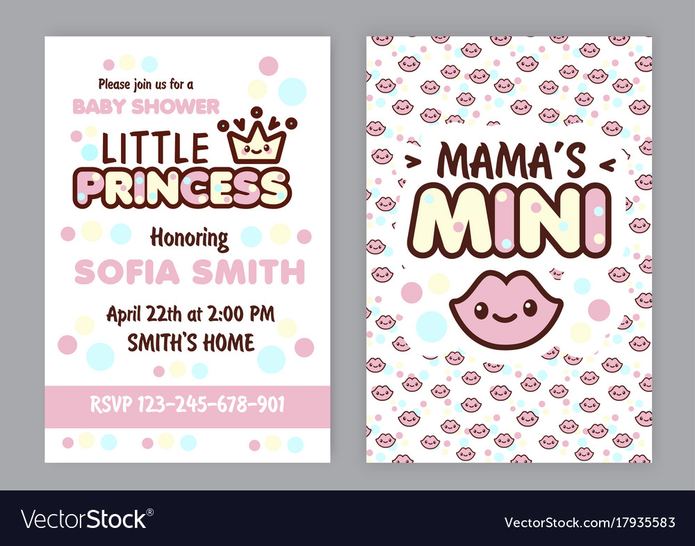 Baby shower party invitation vector image