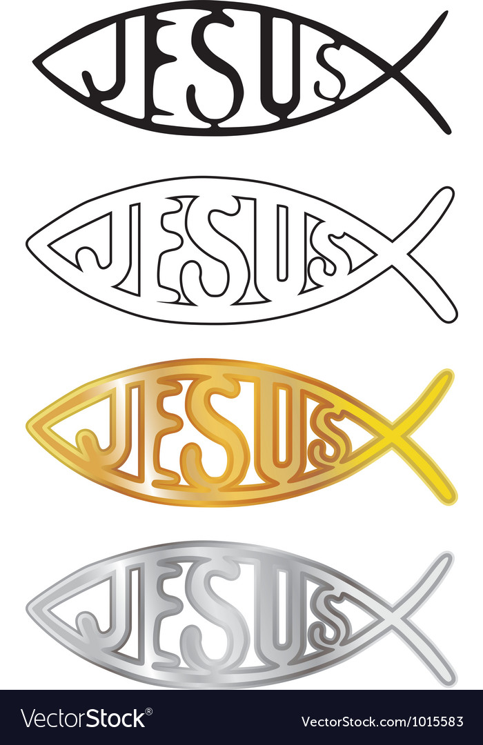 Christian Fish Symbol Royalty Free Vector Image