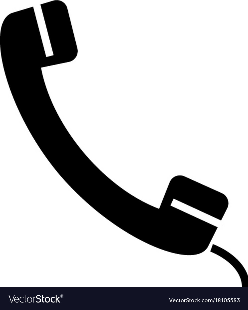 Phone receiver icon black