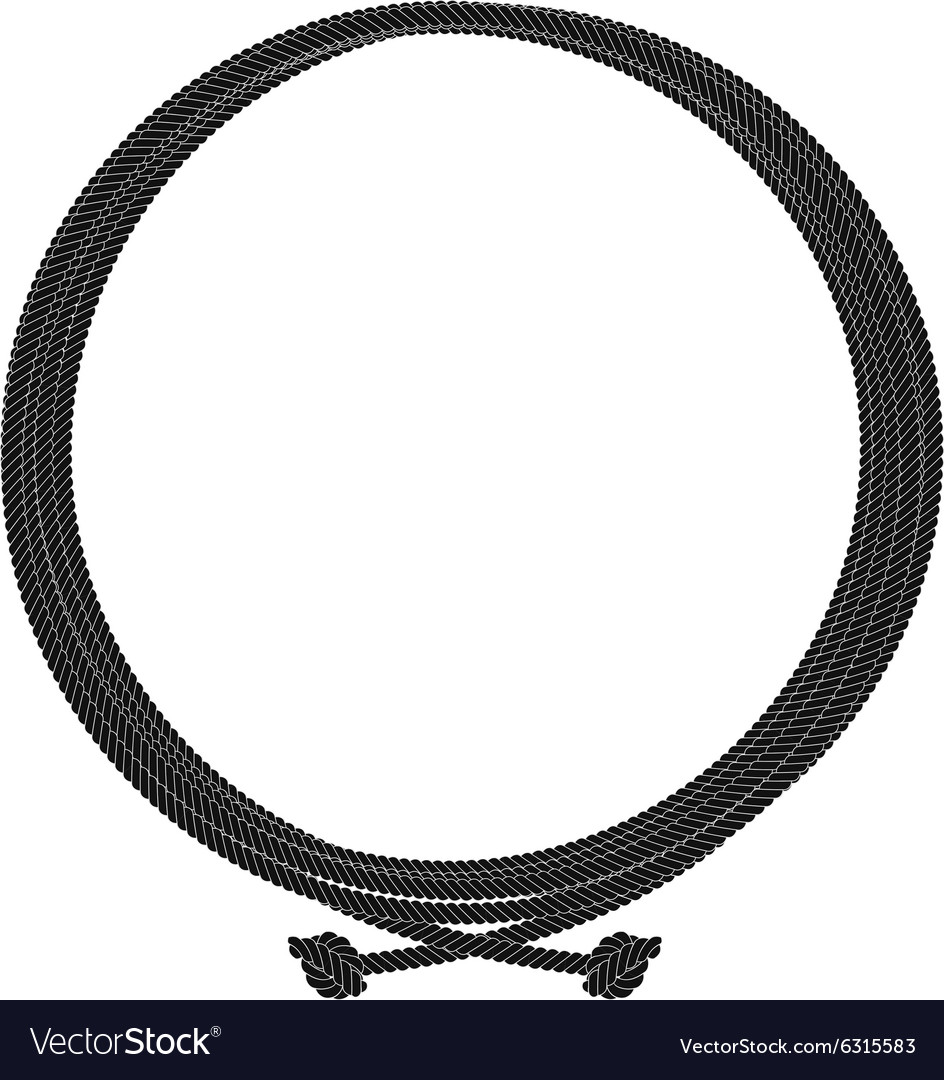 Round rope node frame