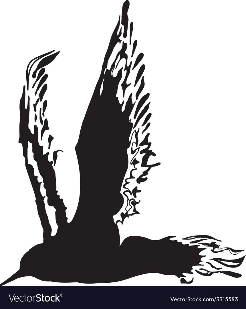 Silhouette Bird vector image