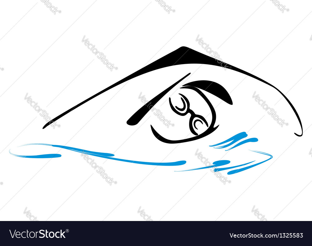 Swimming symbol vector image