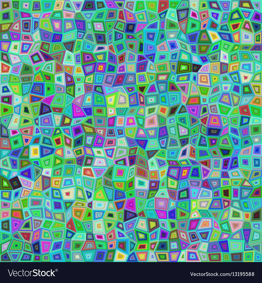 Abstract irregular rectangle mosaic background vector image