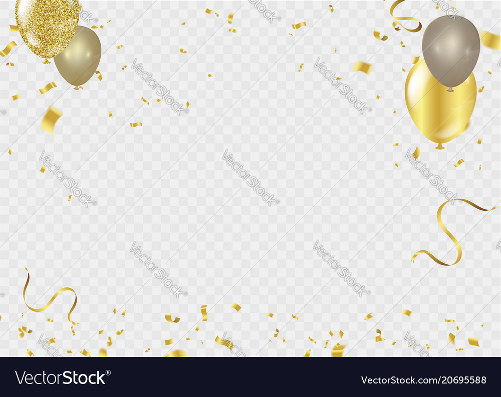 Celebration background template ribbon gold