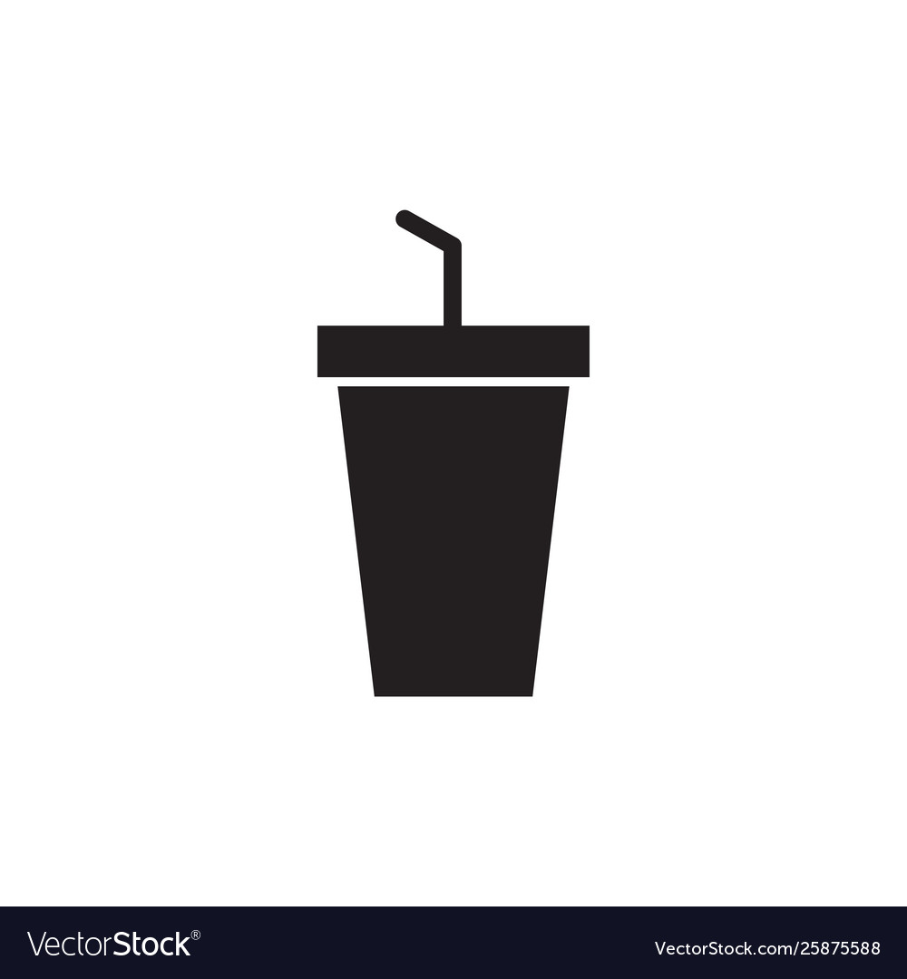 Drink icon design template isolated