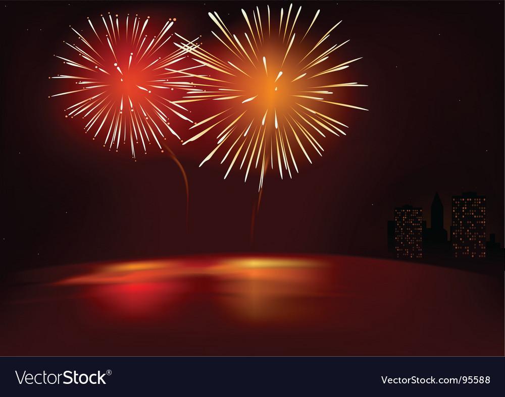 Fireworks Red Vector Image