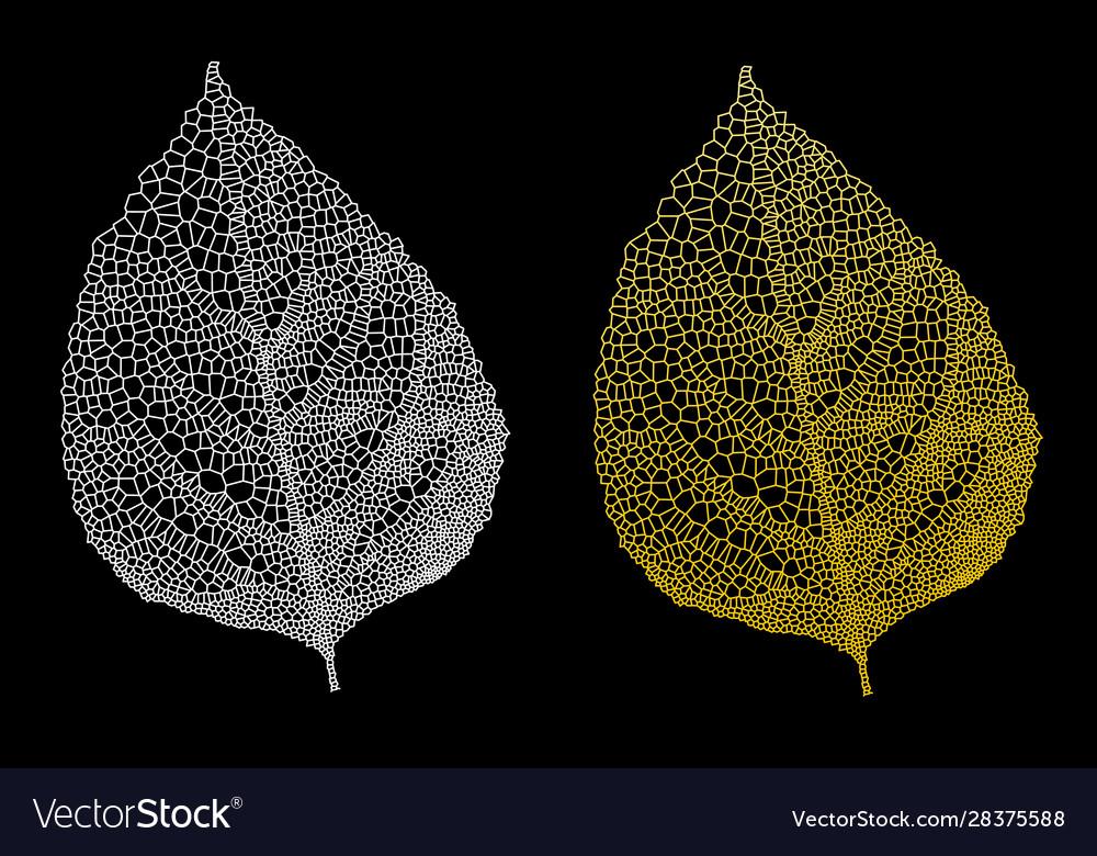 Golden leaves gold leaf set