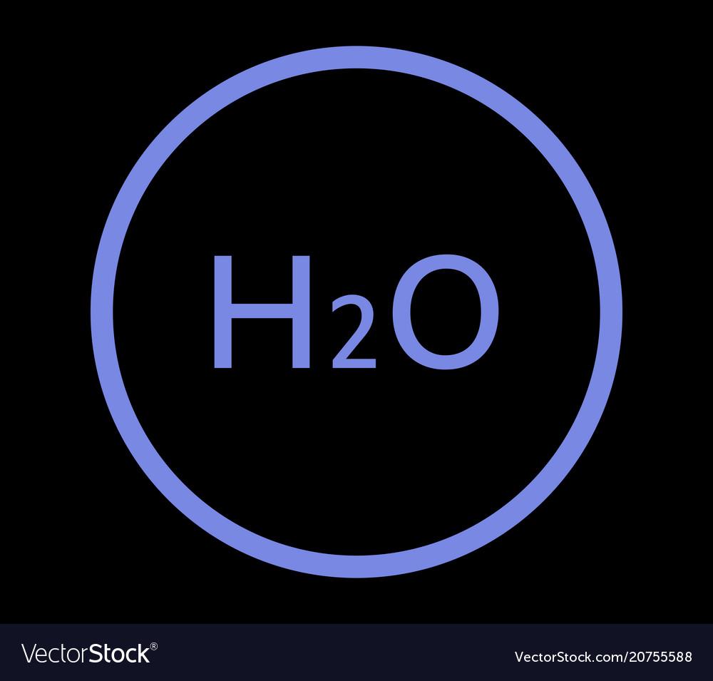 H2o icon vector image