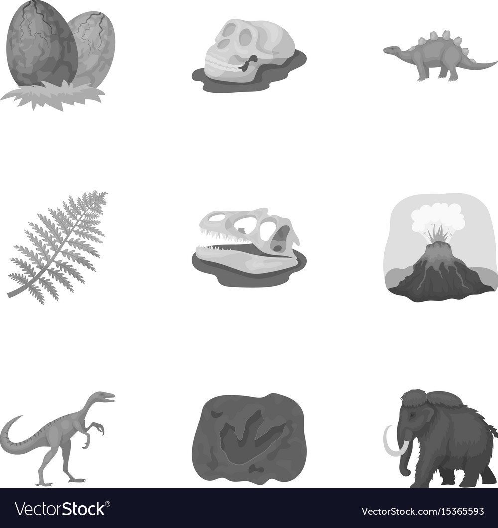Image of: Dinosaurs Vectorstock Ancient Extinct Animals And Their Tracks And Vector Image