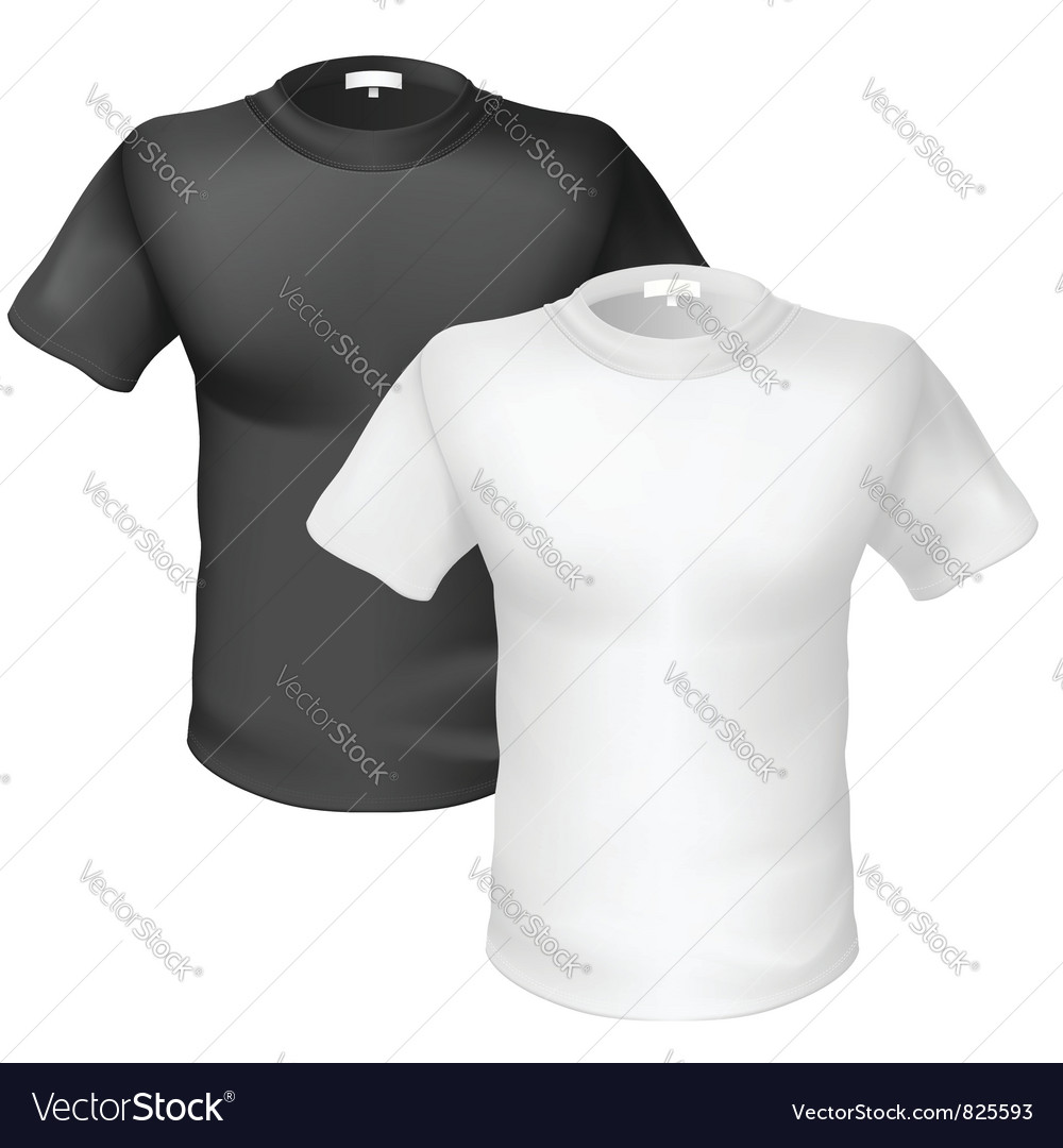 Black and white Tshirt Front View