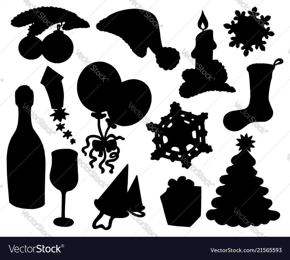 Christmas Silhouette.Christmas Silhouette Collection 03