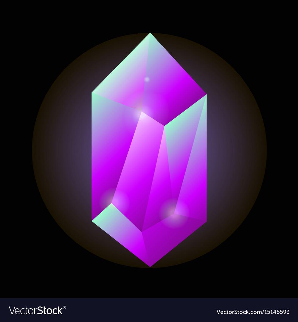 Crystal gemstone or precious gem stone icon