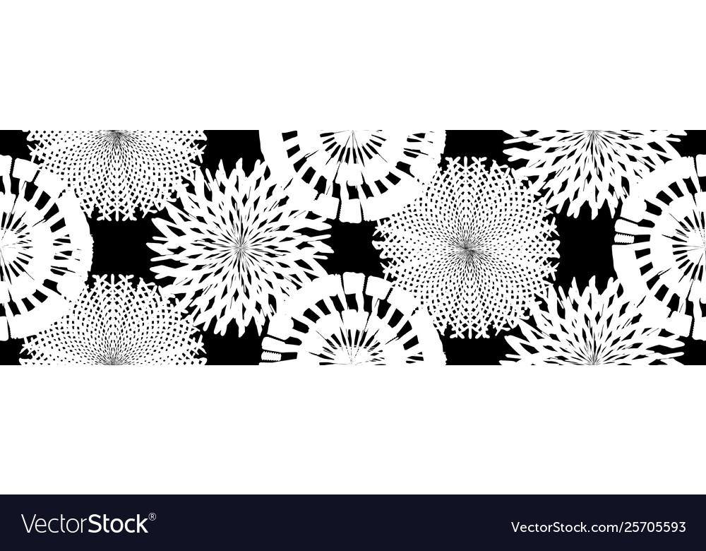 Grunge floral seamless