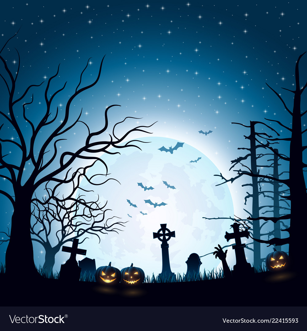 halloween background with pumpkins royalty free vector image