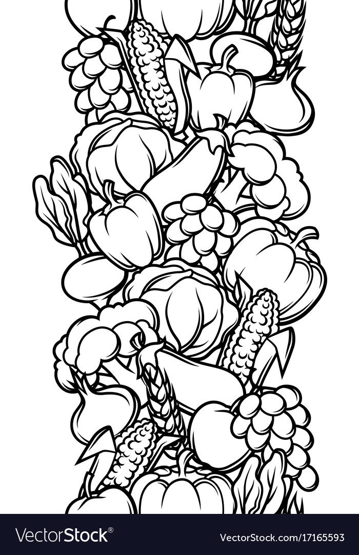 Harvest seamless pattern autumn with
