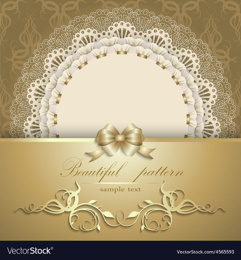 Luxurious gold background with napkin