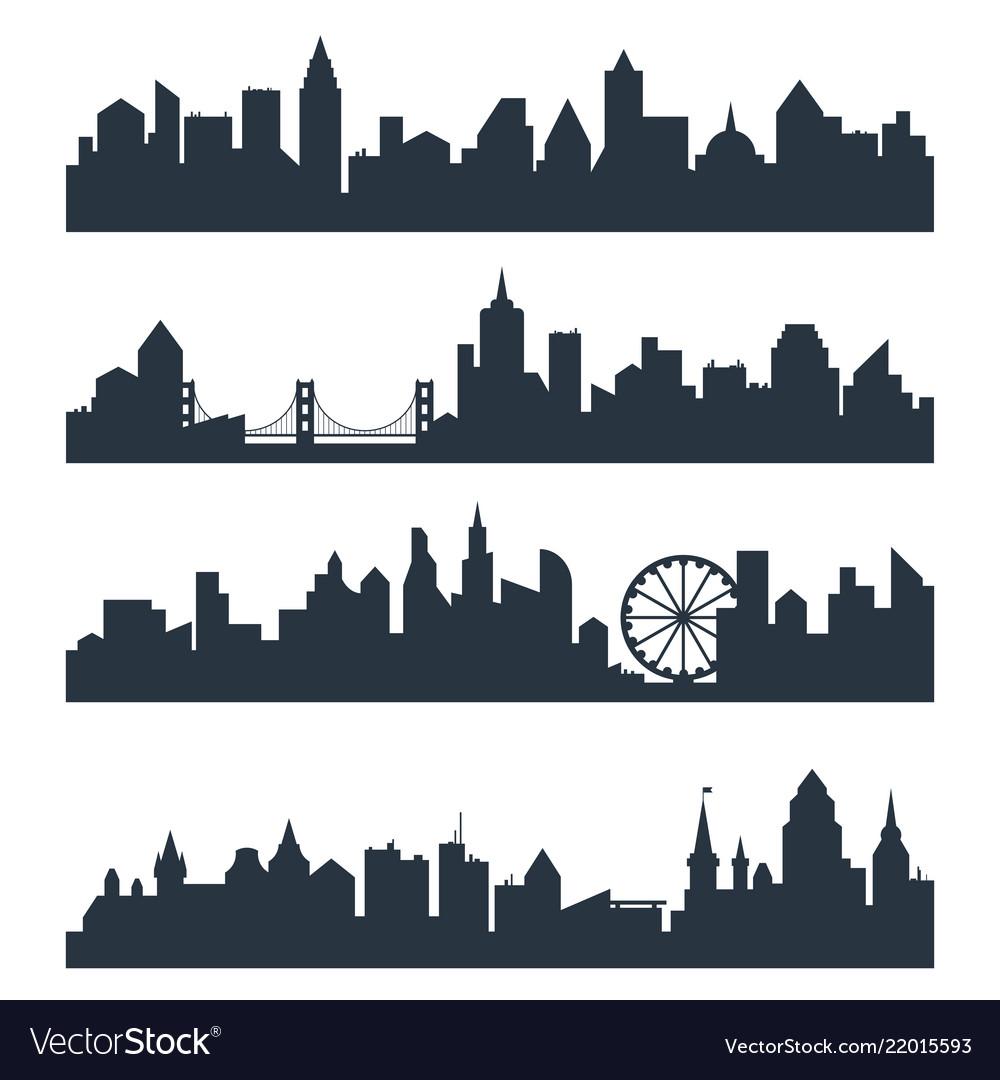 Modern cityscape city silhouette