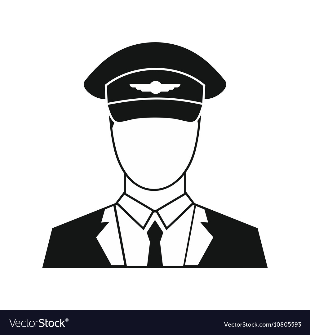 Pilot icon in simple style