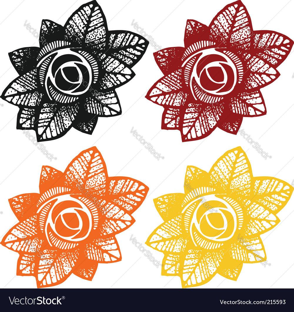 Rose design elements