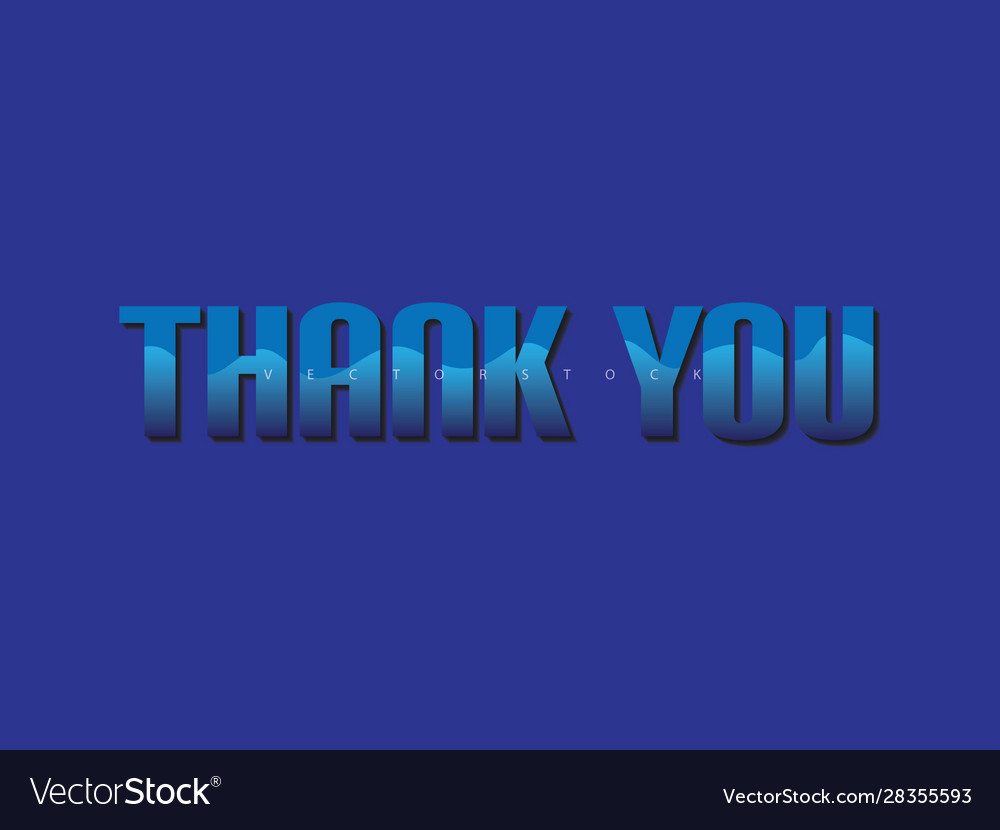 Thank You Wallpaper 3d Thank You Royalty Free Vector Image