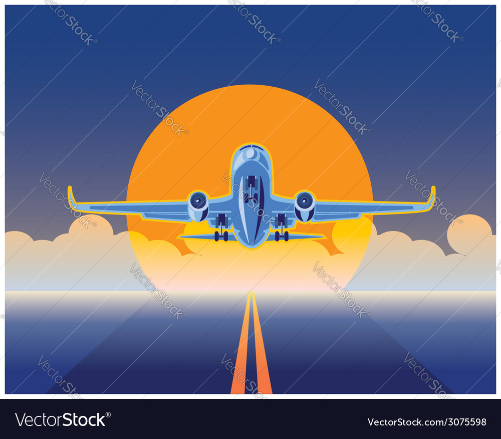 Air freight vector image