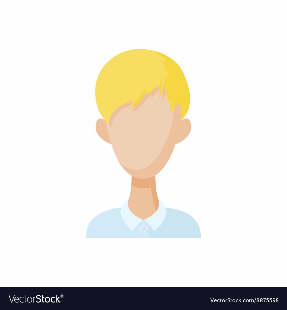 Avatar blond men icon cartoon style