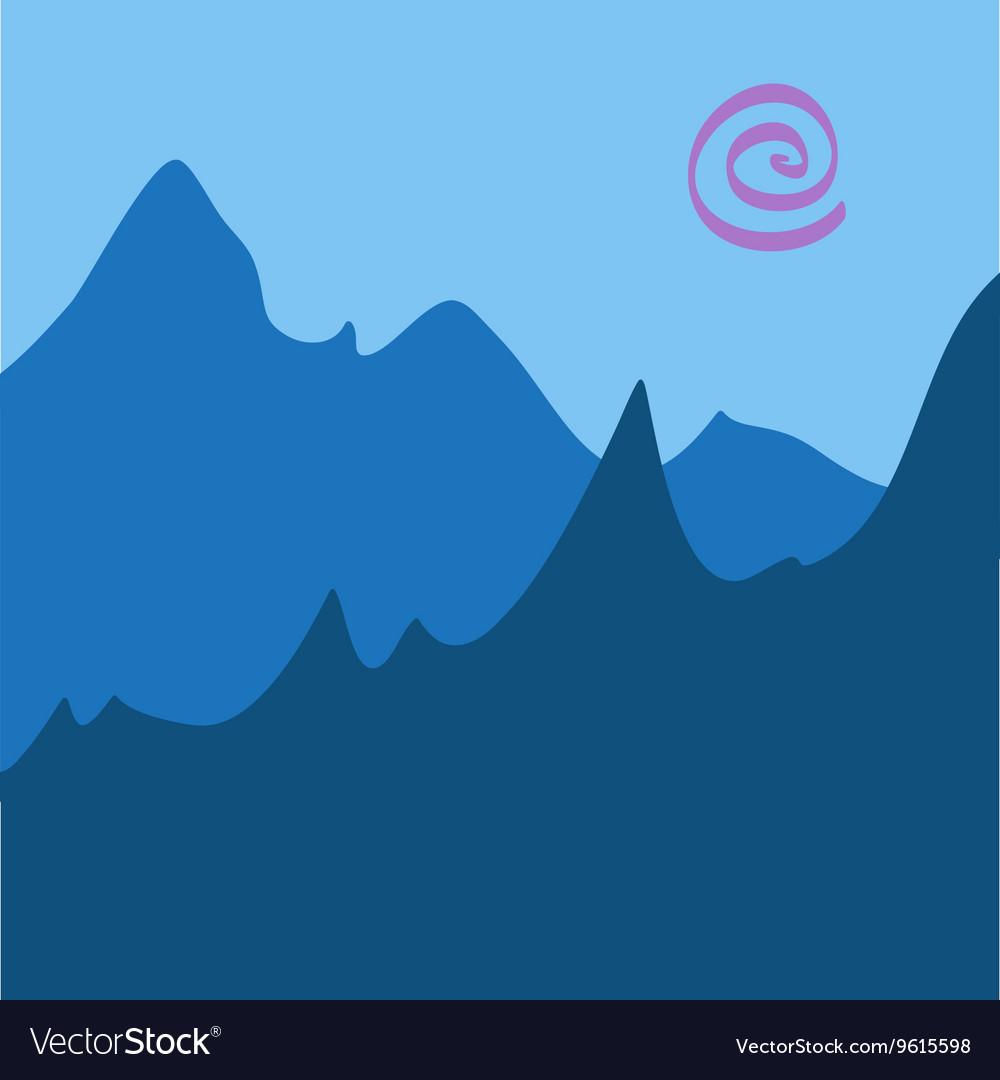 Blue Mountain Scenery Drawing