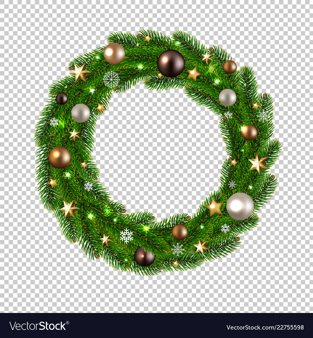 Christmas Wreath Isolated Transparent Background