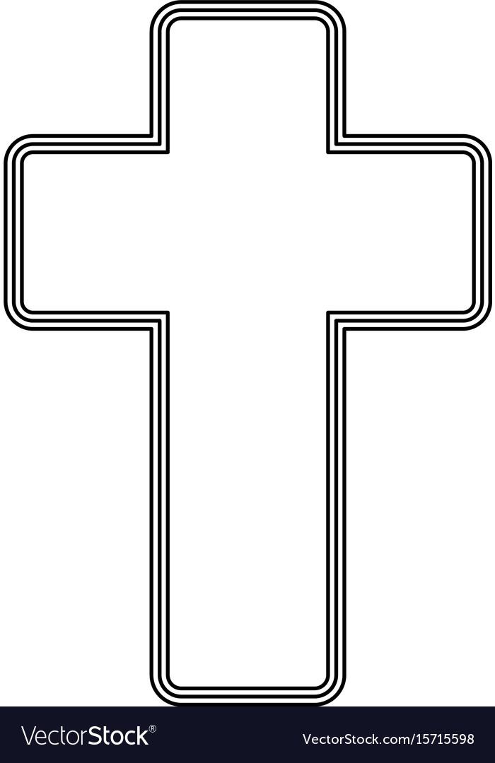 Church cross icon