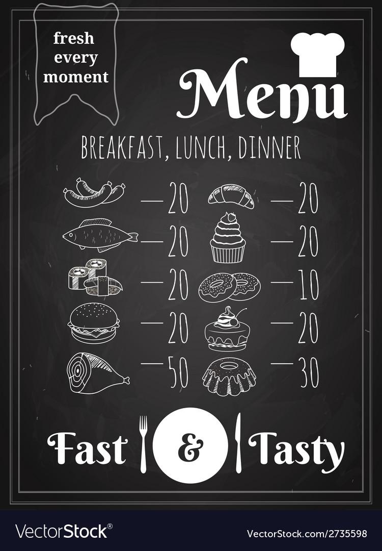 Food Menu Poster Design